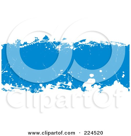 Royalty-Free (RF) Clipart Illustration of a Blue And White Grunge Background by michaeltravers