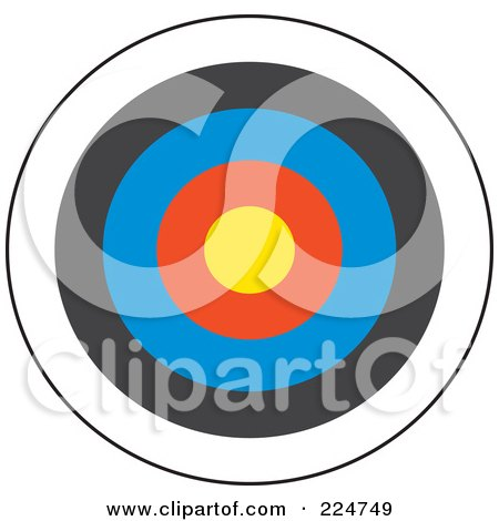 Royalty-Free (RF) Clipart Illustration of a Colorful Dart Board by Prawny