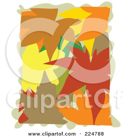 Royalty-Free (RF) Clipart Illustration of Colorful Autumn Leaves Piled by Prawny