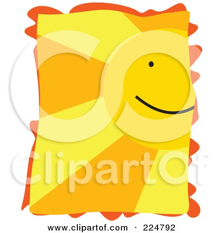 Royalty-Free (RF) Clipart Illustration of Part Of A Happy Sun Face With Rays by Prawny
