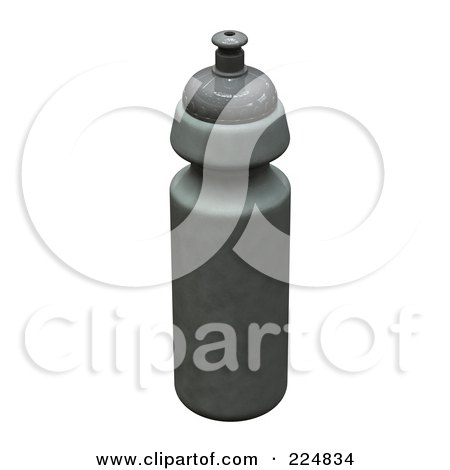 Royalty-Free (RF) Clipart Illustration of a 3d Rendered Steel Water Bottle by patrimonio