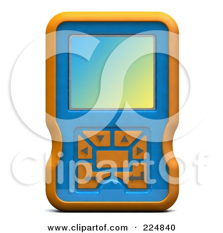 Royalty-Free (RF) Clipart Illustration of a 3d Engine Analyzer Or Cell Phone - 1 by patrimonio