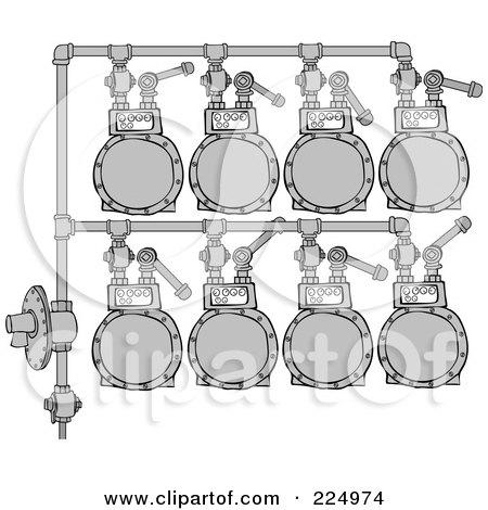 Royalty-Free (RF) Clipart Illustration of a Gas Meter Header - 1 by djart