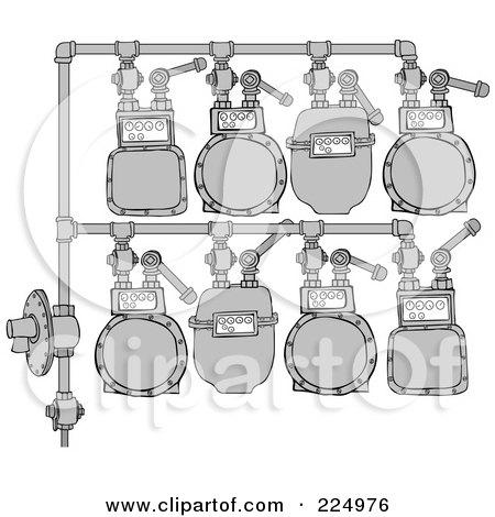 Royalty-Free (RF) Clipart Illustration of a Gas Meter Header - 2 by djart