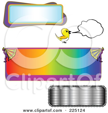Royalty-Free (RF) Clipart Illustration of a Digital Collage Of Text Frame Designs by tdoes