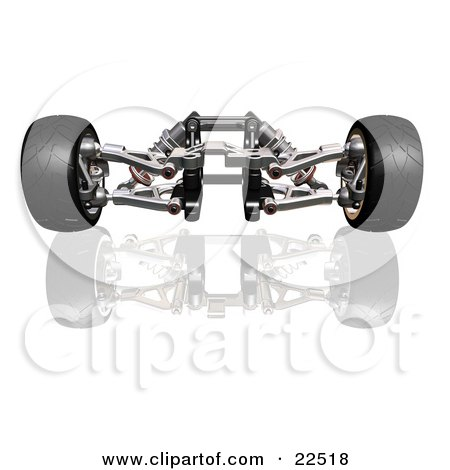Clipart Illustration of Red And Silver Suspension Car Parts And ...