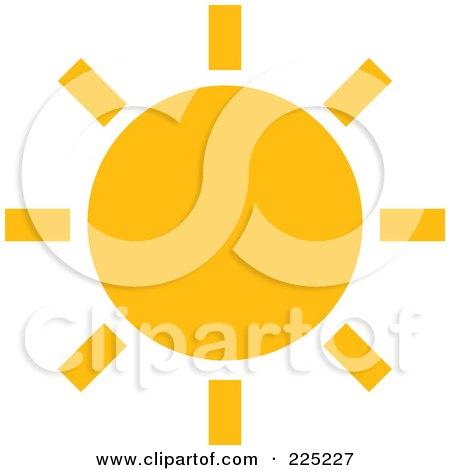Royalty-Free (RF) Clipart Illustration of a Simple Orange Sun by Prawny