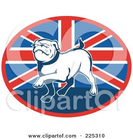 Royalty-Free (RF) Clipart Illustration of a British Bulldog Logo by patrimonio