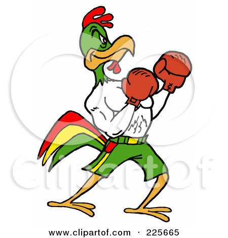 Boxing Rooster by Laff...