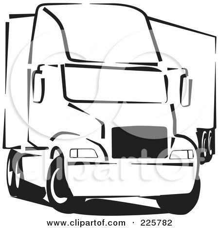 Royalty-Free (RF) Clipart Illustration of a Black And White Big ...