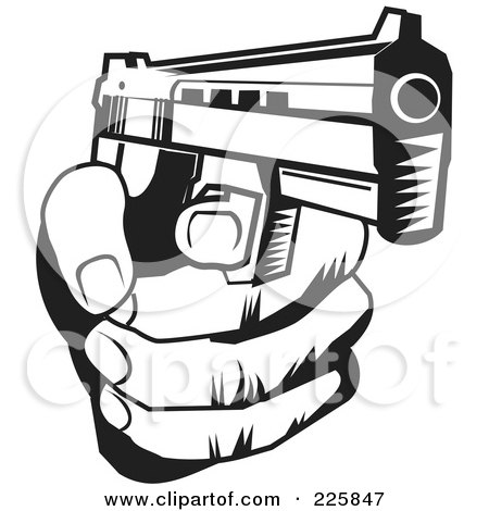 Black And White Hand Holding A Gun Posters Art Prints By David Rey