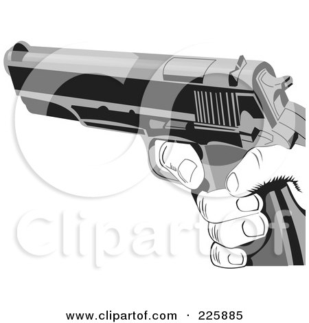 Royalty-Free (RF) Clipart Illustration of a Grayscale Hand ...