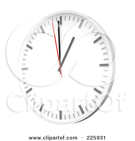 Royalty-Free (RF) Clipart Illustration of a 3d Wall Clock by Jiri Moucka