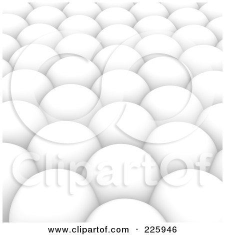 Royalty-Free (RF) Clipart Illustration of a 3d Background Of White Spheres by Jiri Moucka