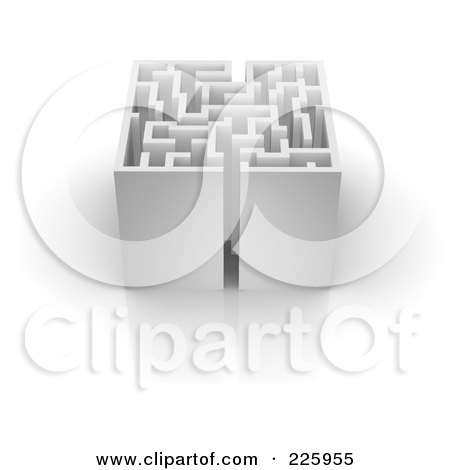 Royalty-Free (RF) Clipart Illustration of a 3d Box Maze - 2 by Jiri Moucka