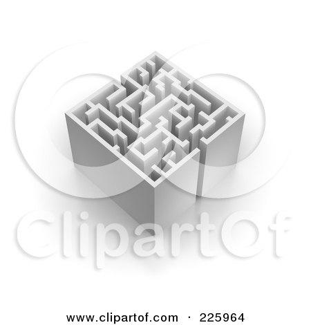Royalty-Free (RF) Clipart Illustration of a 3d Box Maze - 1 by Jiri Moucka