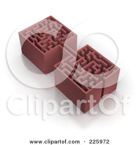 Royalty-Free (RF) Clipart Illustration of a 3d Box Maze - 3 by Jiri Moucka