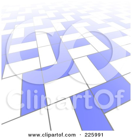 Royalty-Free (RF) Clipart Illustration of a 3d Abstract Background Of White And Blue Blocks by Jiri Moucka