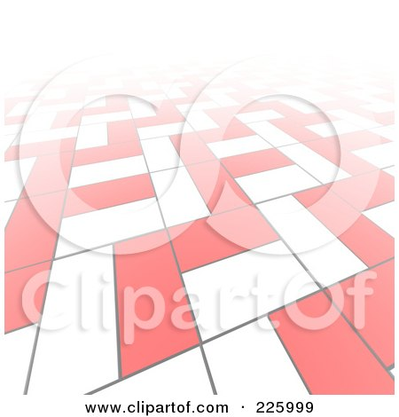 Royalty-Free (RF) Clipart Illustration of a 3d Abstract Background Of White And Red Blocks by Jiri Moucka
