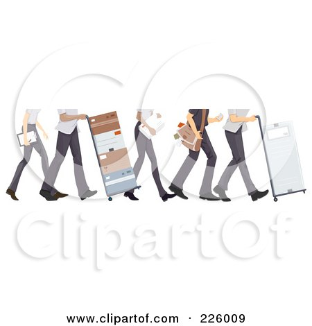 Royalty-Free (RF) Clipart Illustration of Feet Of Courier And Delivery Workers by BNP Design Studio