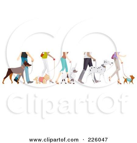 Feet Of People Walking Their Dogs Posters, Art Prints
