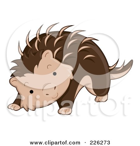 Royalty-Free (RF) Clipart Illustration of a Cute Porcupine by BNP Design Studio