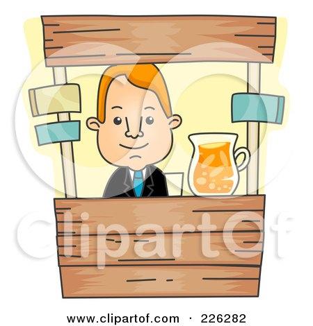 how to draw a cartoon lemonade stand