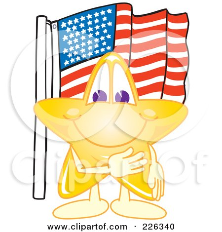 Royalty-Free (RF) Clipart Illustration of a Star School Mascot  by Toons4Biz
