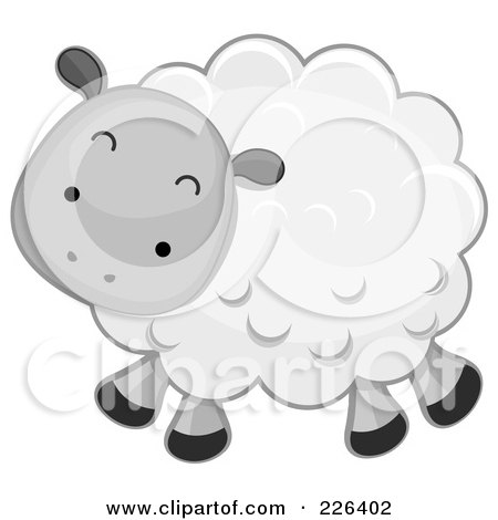 Royalty-Free (RF) Clipart Illustration of a Cute Sheep by BNP Design Studio