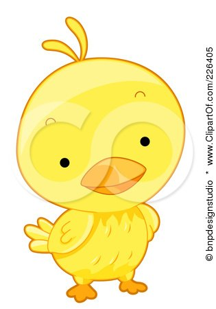Royalty-Free (RF) Clipart Illustration of a Cute Yellow Birdie by BNP Design Studio