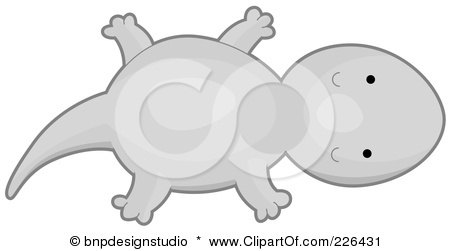 Royalty-Free (RF) Clipart Illustration of a Cute Gray Lizard by BNP Design Studio
