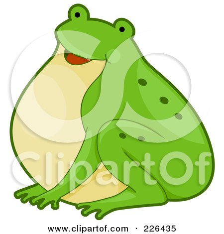 Royalty-Free (RF) Clipart Illustration of a Cute Frog by BNP Design Studio
