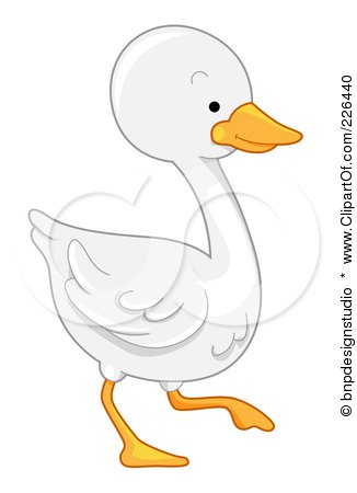 Royalty-Free (RF) Clipart Illustration of a White Goose by BNP Design Studio
