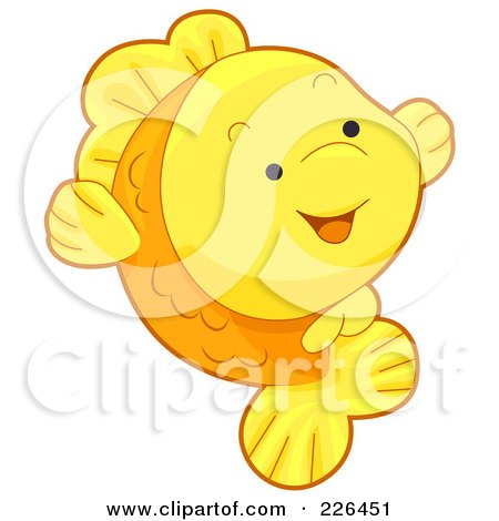 Royalty-Free (RF) Clipart Illustration of a Cute Goldfish Smiling by BNP Design Studio