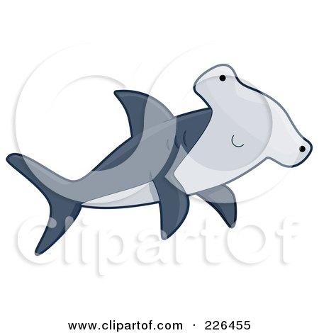 Royalty-Free (RF) Clipart Illustration of a Cute Hammerhead Shark by BNP Design Studio