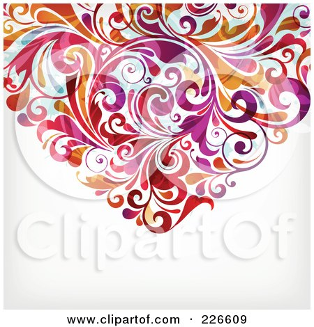 Royalty-Free (RF) Clipart Illustration of The Bottom Of A Flourish Heart - 2 by OnFocusMedia