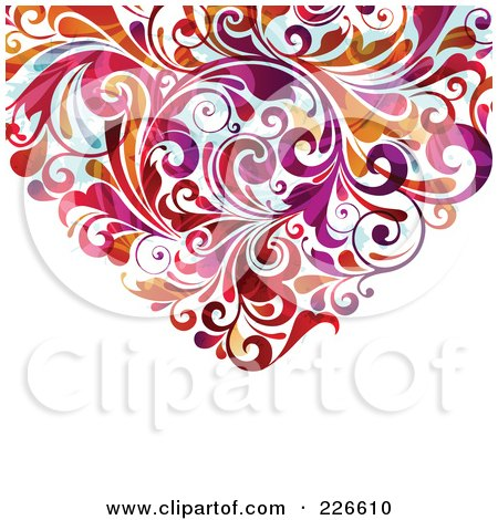 Royalty-Free (RF) Clipart Illustration of The Bottom Of A Flourish Heart - 1 by OnFocusMedia