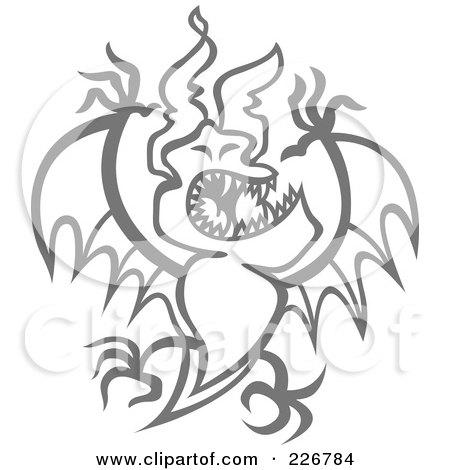 Evil Moon Drawings Gray Evil Bat With Sharp Teeth