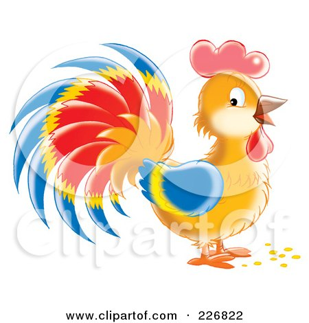 Cute Colorful Rooster Posters, Art Prints