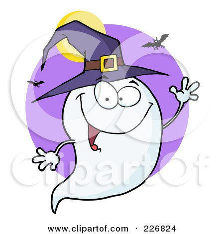 royalty free rf clipart illustration of a cute halloween ghost rh clipartof com halloween ghost clip art images Halloween Vampire Clip Art