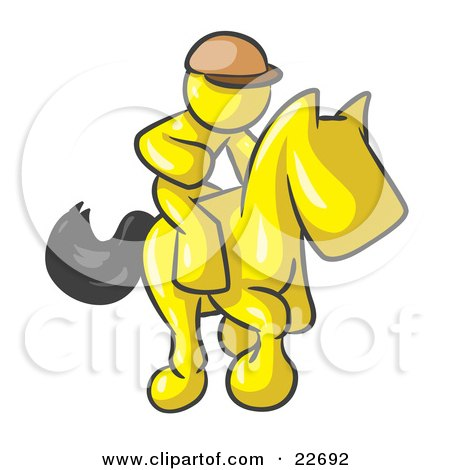 Clipart Illustration of a Yellow Man