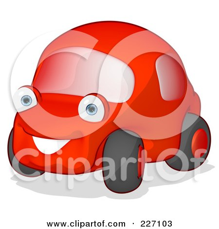 cartoon car pictures. of a Cute Red Cartoon Car
