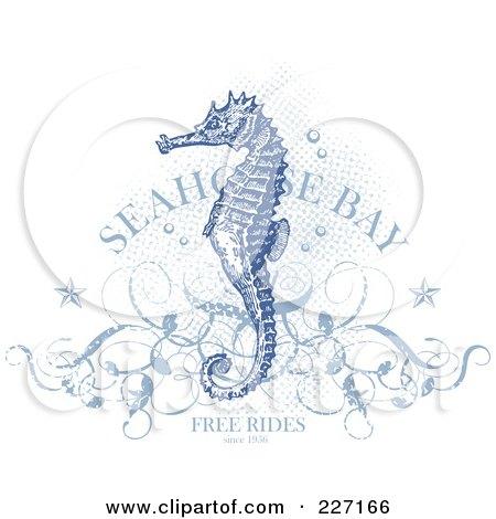 of a Antique Blue Seah...