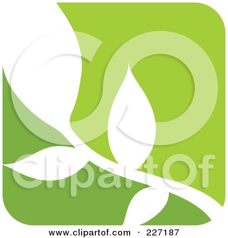 Royalty-Free (RF) Clipart Illustration of a Green And White Nature Leaf Logo Icon - 9 by elena