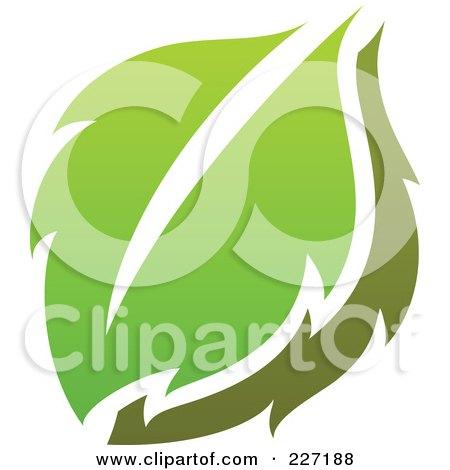 Royalty-Free (RF) Clipart Illustration of a Green Leaf Logo Icon - 2 by elena