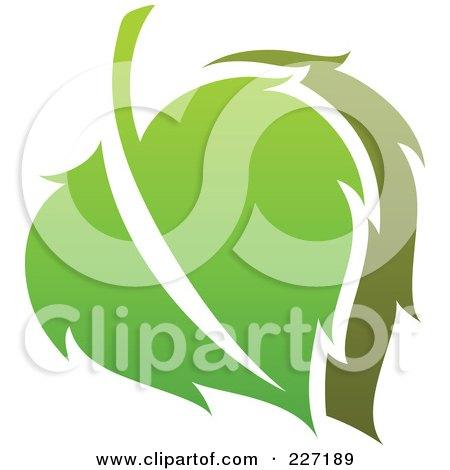 Royalty-Free (RF) Clipart Illustration of a Green Leaf Logo Icon - 8 by elena