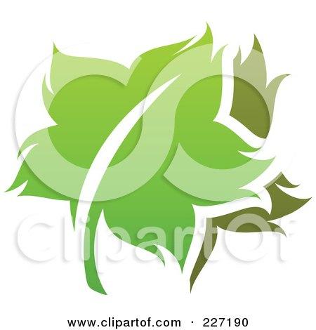 Royalty-Free (RF) Clipart Illustration of a Green Leaf Logo Icon - 13 by elena