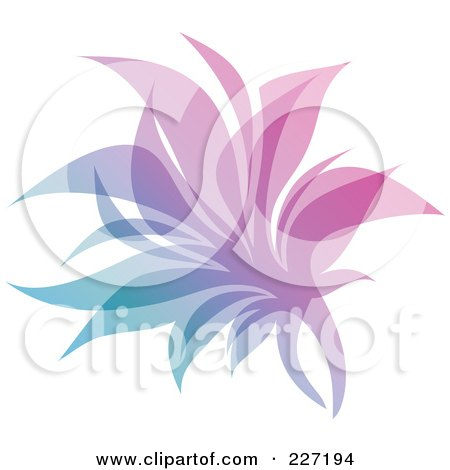 Royalty-Free (RF) Clipart Illustration of a Gradient Leaf Overlay Logo Icon - 5 by elena