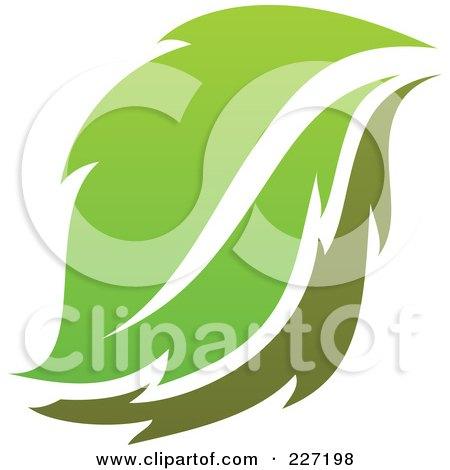 Royalty-Free (RF) Clipart Illustration of a Green Leaf Logo Icon - 10 by elena