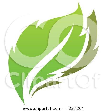 Royalty-Free (RF) Clipart Illustration of a Green Leaf Logo Icon - 9 by elena